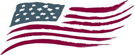 bandera americana: Bandera de cepillado de Am�rica
