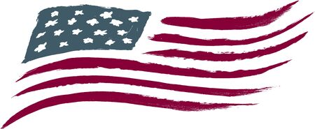 Brushed American Flag Vector