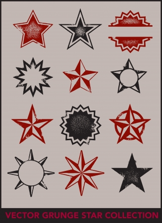 distressed: Grunge Vector Stars