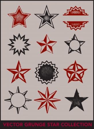 western cowboy: Grunge Vector Stars