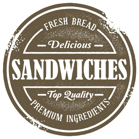 Vintage Sandwich Menu Stamp