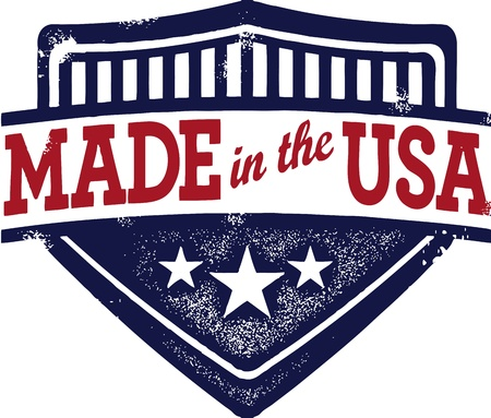 Vintage Made in USA Crest Vector