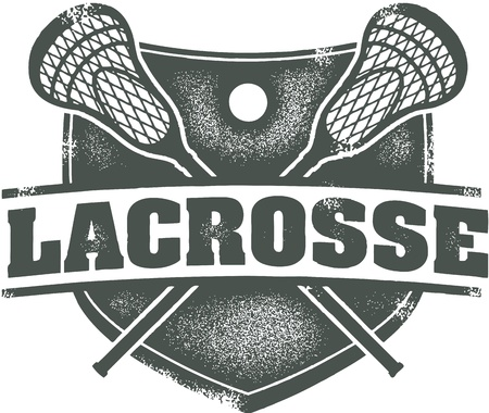 lax: Vintage Style Lacrosse Sport Stamp