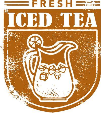 té helado: Fresh Iced Tea Stamp Menú
