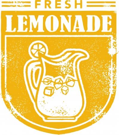 Limonada fresca Menú Sello Foto de archivo - 14651196