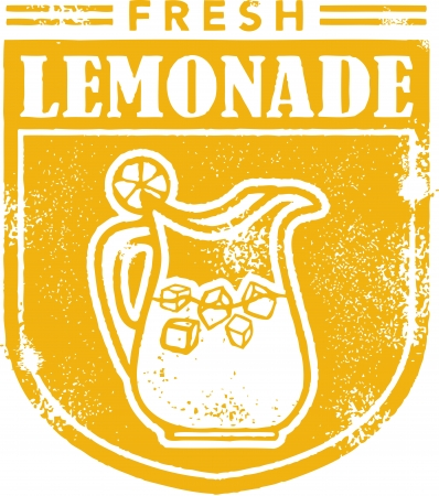 limonade: Verse Limonade Menu Stamp Stock Illustratie
