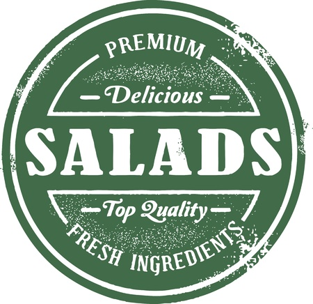 Fresh Salad Menu Stamp Vetores