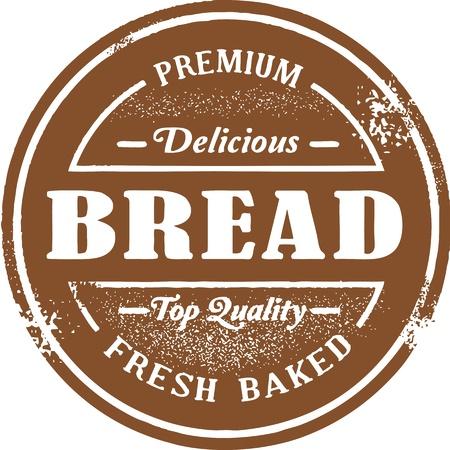 Fresh Baked Bread Stamp Vettoriali