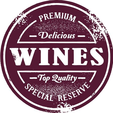 rubber stamp: Premium Wine List Stamp