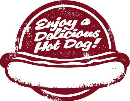 hotdog: Sign Vintage Hot Dog