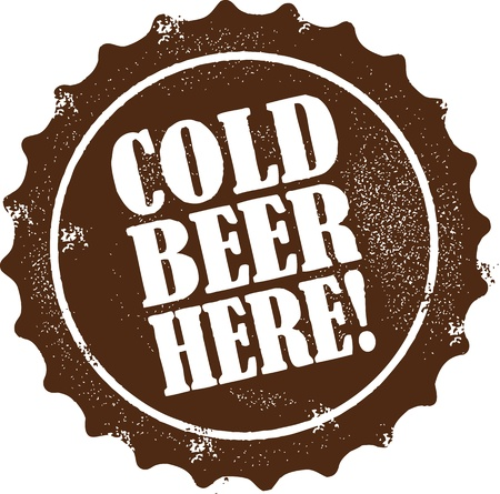 Cold Beer Here Vector