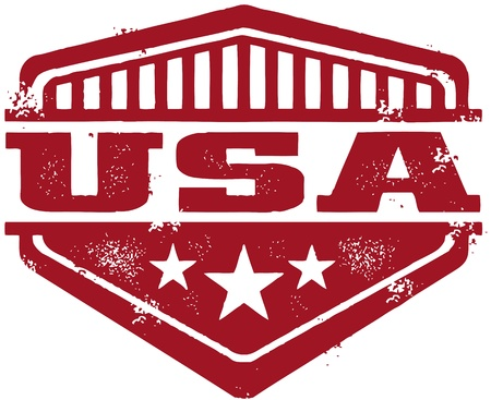Vintage USA Crest Stock Vector - 14651211