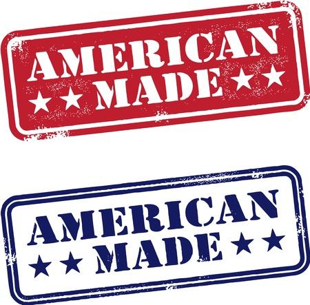 сделанный: Американец сделал Марки США Иллюстрация
