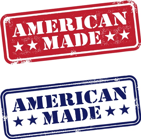 American Made USA Stamps Stock Vector - 14651240