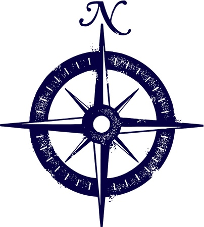 compass rose: Vintage Compass  Illustration