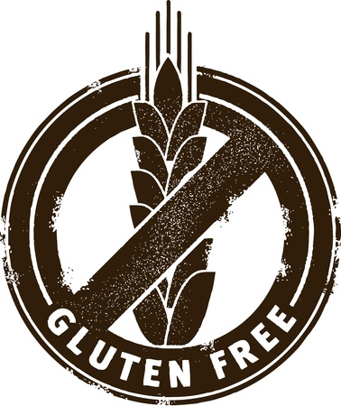 gluten: Gluten Free Stamp