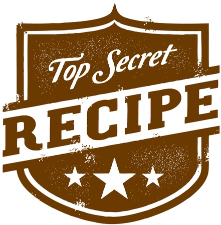 Vintage Top Secret Recipe Vector
