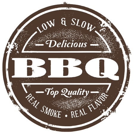 Vintage Barbecue (BBQ) Stempel Vector Illustratie