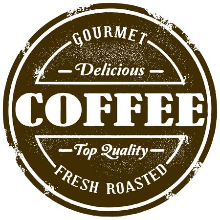 ビンテージ スタイルのコーヒー スタンプ