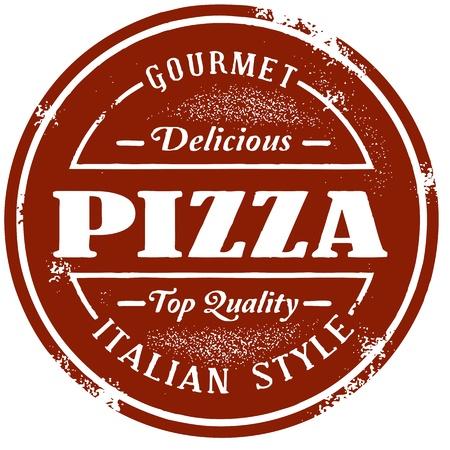 ビンテージ スタイルのピザ スタンプ