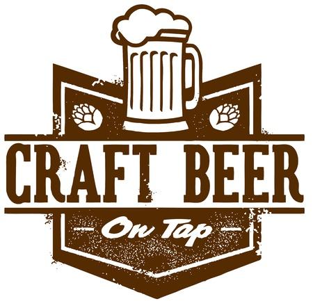 cerveza: Artesan�a cerveza de barril Vectores