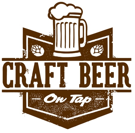 chope biere: Craft Beer Tap sur Illustration