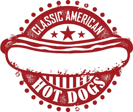 Classic American Hot Dogs Vector