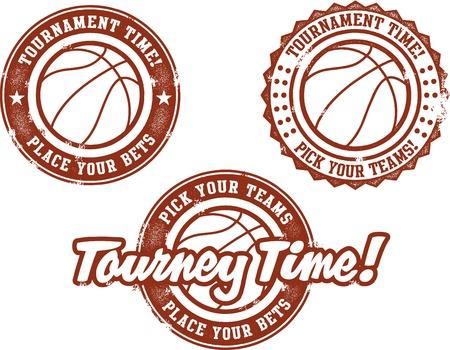 농구 토너먼트 시간 일러스트