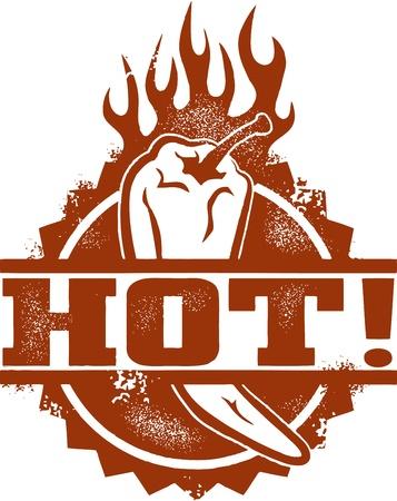 hot asian: Горячий перец чили Иллюстрация