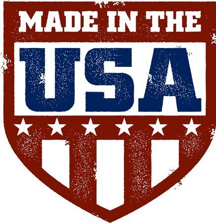 Vintage Made in USA Crest Banque d'images - 14651233