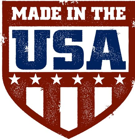 ville usa: Vintage Made in USA Crest