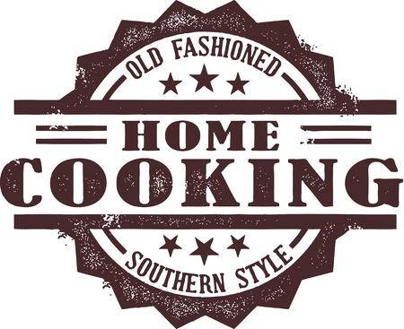 남부 스타일 가정 요리 배지 스톡 콘텐츠 - 14651225
