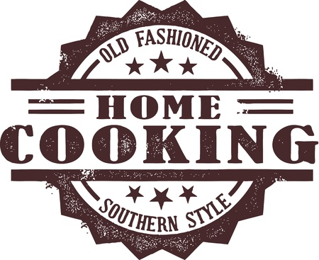 Southern Style Home Cooking Badge Vector