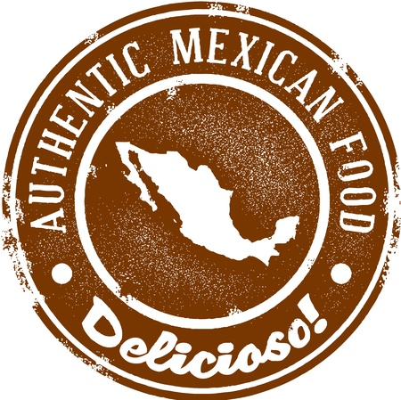 本格的なメキシコ料理  イラスト・ベクター素材