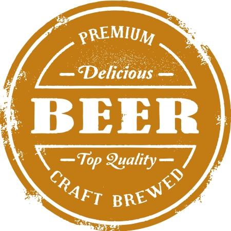 Weinlese-Premium-Bier-Stempel Standard-Bild - 14651226