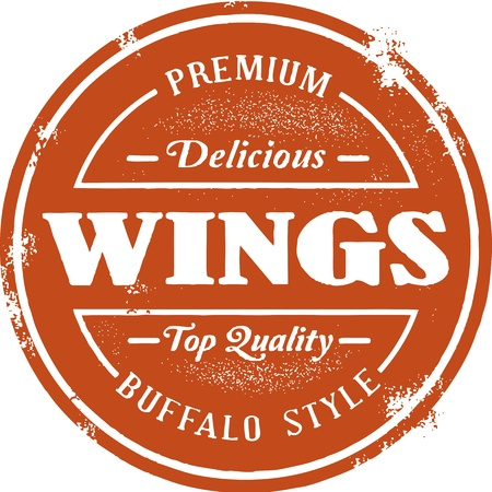grill chicken: Buffalo Chicken Wing Stamp
