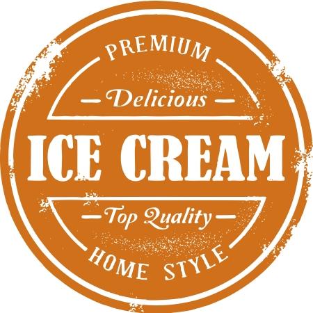 Vintage Stamp Crème glacée de style