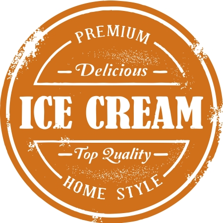 Vintage Style Ice Cream Stamp Stock Vector - 14651222