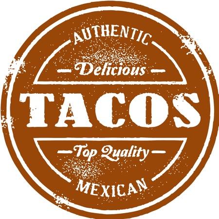 mexican food: Vintage mexicana Taco Sello