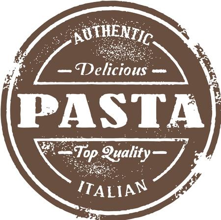 Weinlese-italienische Pasta-Stempel Standard-Bild - 14651212