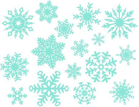 Winter Snowflake Collection Illusztráció