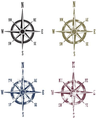 compass rose: Vintage Compass Rose Map Graphics