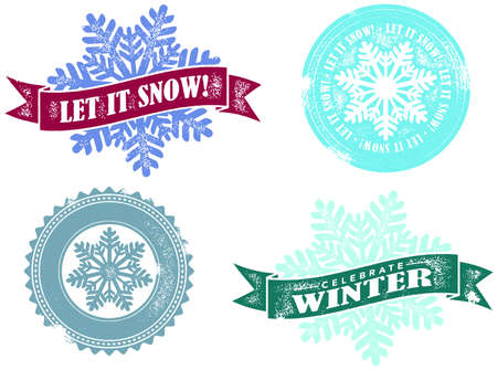 to let: Winter Let it Snow Stamps