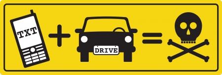 car crash: Texting and Driving Kills
