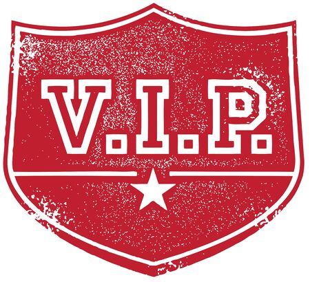 vip badge: Grunge VIP Badge Stamp Illustration