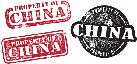 Property of China Investment Stamp Vector