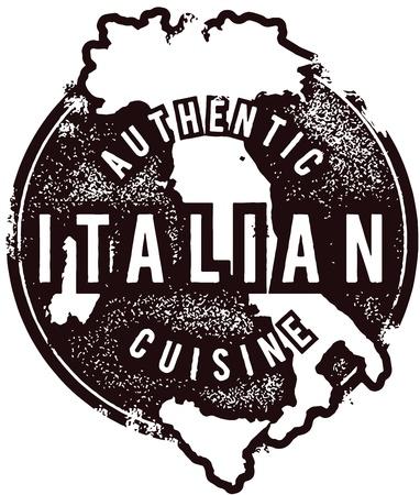 authentic: Authentic Italian Restaurant Menu Stmap Illustration