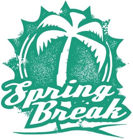 Cachet de vacances Spring Break Vecteurs