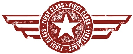 Vintage Style First Class Stamp Vector