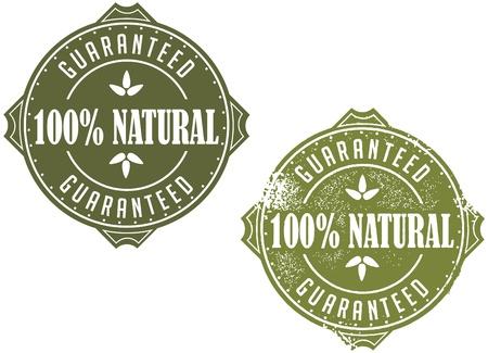 100  Natural Guaranteed Stock Vector - 18004777